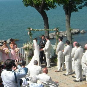 Our picturesque Lake Erie setting offers a beautiful backdrop for a wedding ceremony