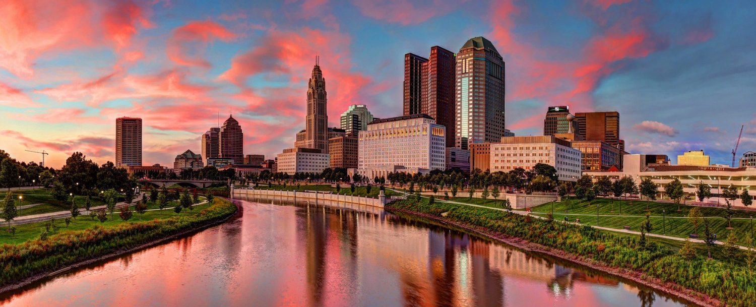 a city landscape of Columbus, Ohio.
