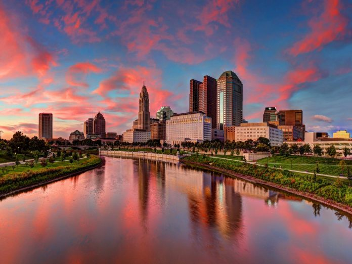 a city landscape of Columbus, Ohio.