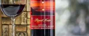 A bottle of Lakehouse Pinot Noir.
