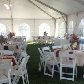 reception under a tent