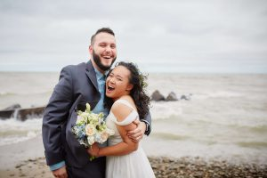 Lakehouse Wedding Couple