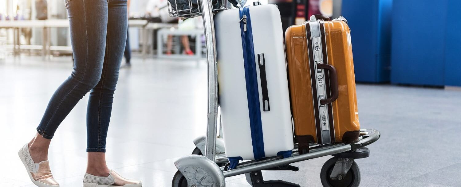 suitcases in airport