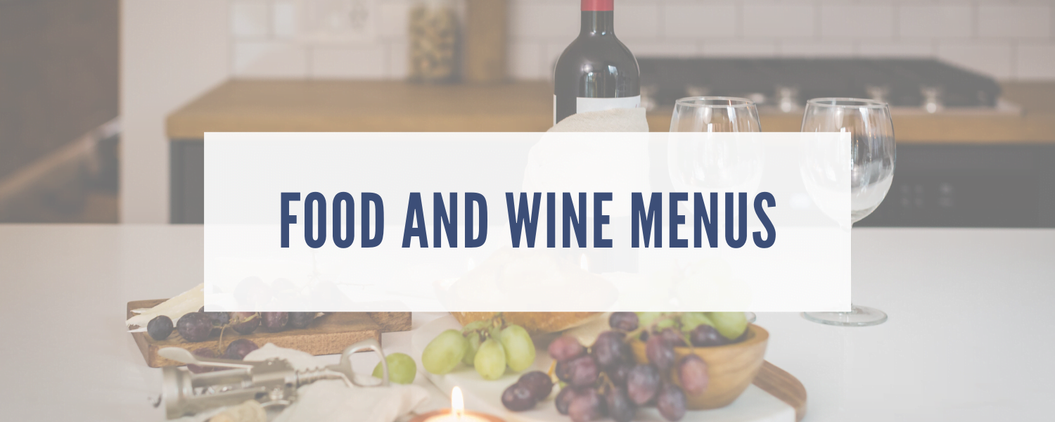 lakehouse food and wine menus