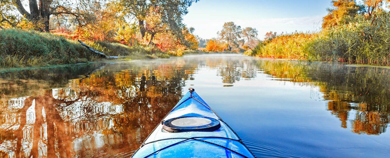 Kayak on the lake