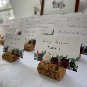 Table Assignments for a Wedding at The Lakehouse Inn