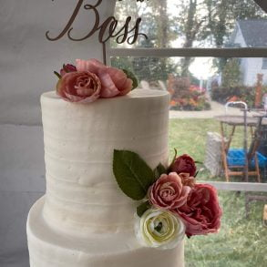 Wedding Cake at The Lakehouse Inn